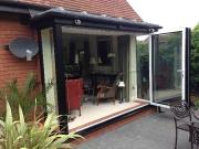 Bifold doors, completed